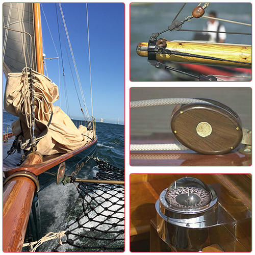 Yacht Sailing, Furling Systems, and a Compass
